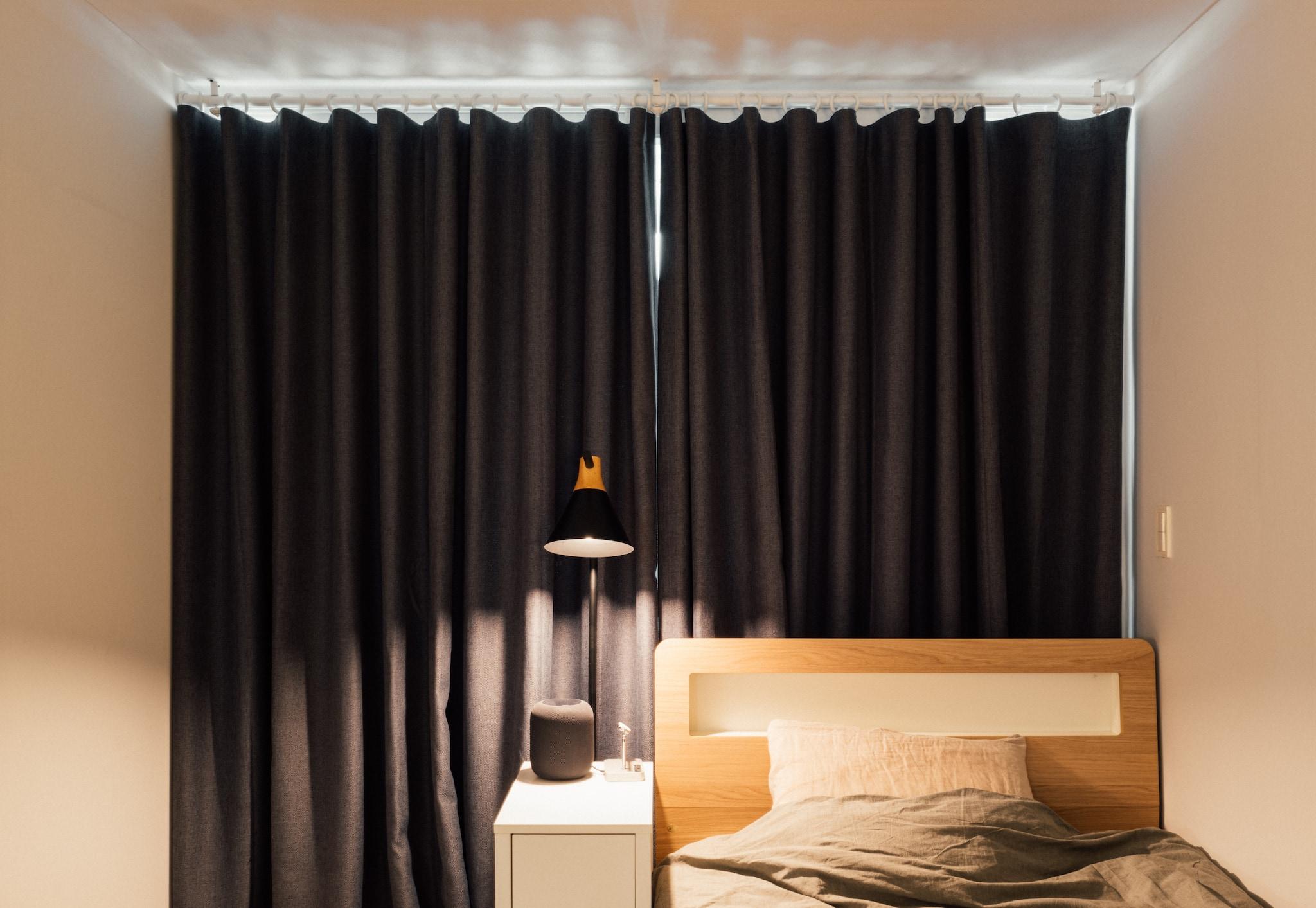 스튜디오형 원룸의 침실 부분